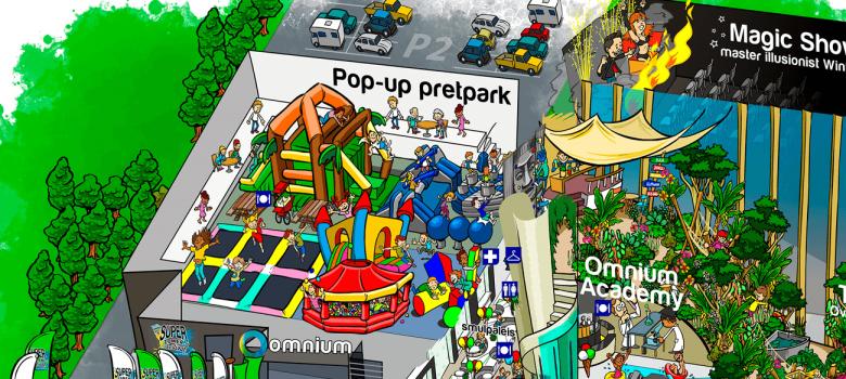 Omnium pop up pretpark