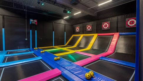 Sidijk trampoline park interactive dodge ball