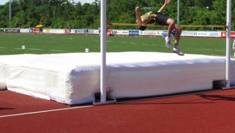 Leichtathletik Stabhochsprung Hochsprung Fallschutz Sidijk