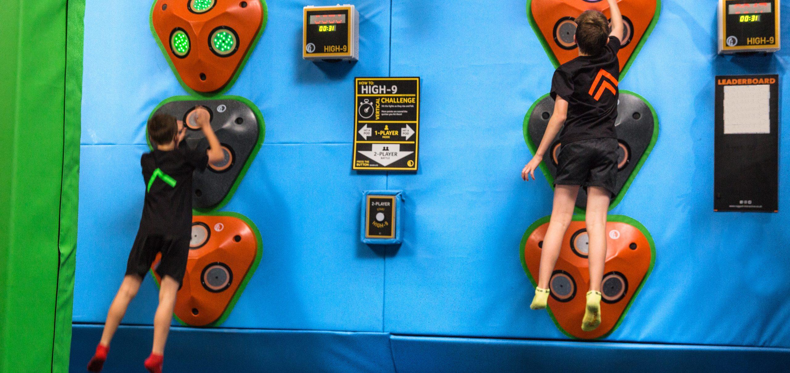 interactive elements main court trampoline park sidijk